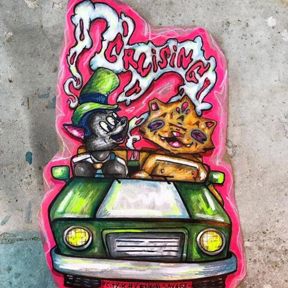 collaborazione tra neon savage e CityKittyStreet